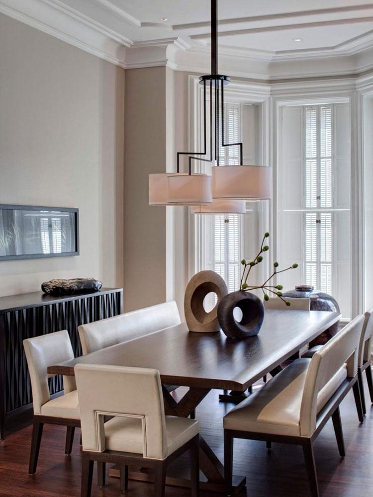 Idee di arredo per la scelta di panche e sedie per la sala da pranzo n.30