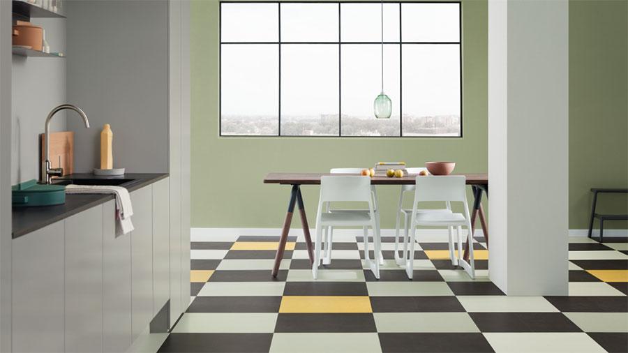 Modello di pavimento in linoleum di design n.01