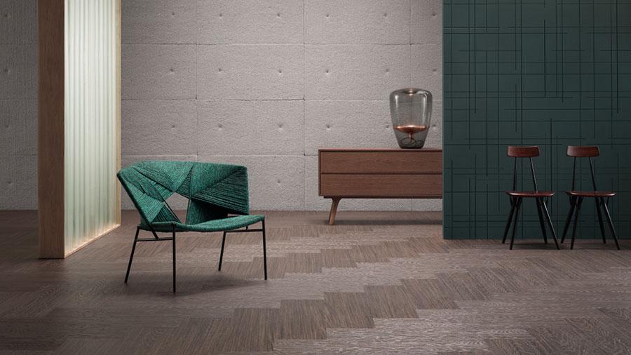 Modello di pavimento in linoleum di design n.03
