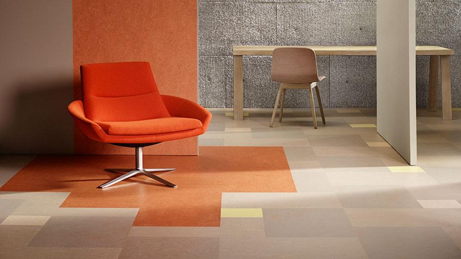 Modello di pavimento in linoleum di design n.04