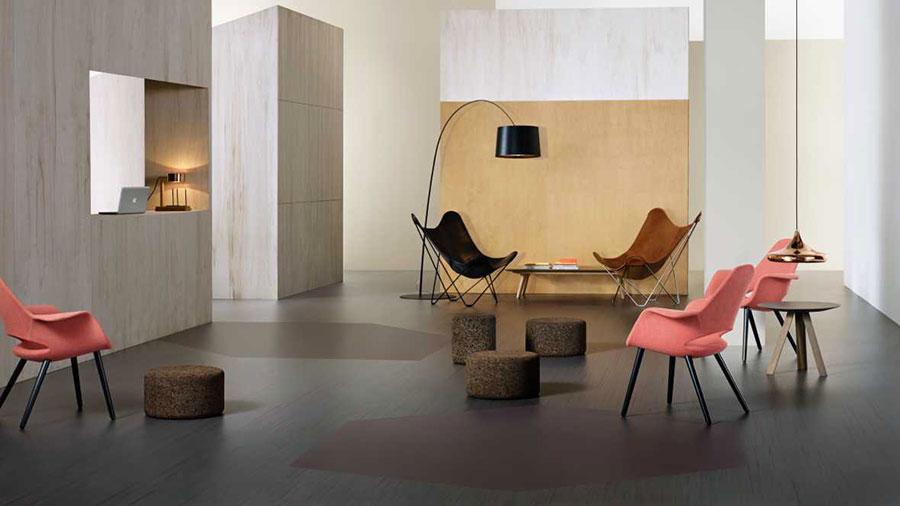 Modello di pavimento in linoleum di design n.09
