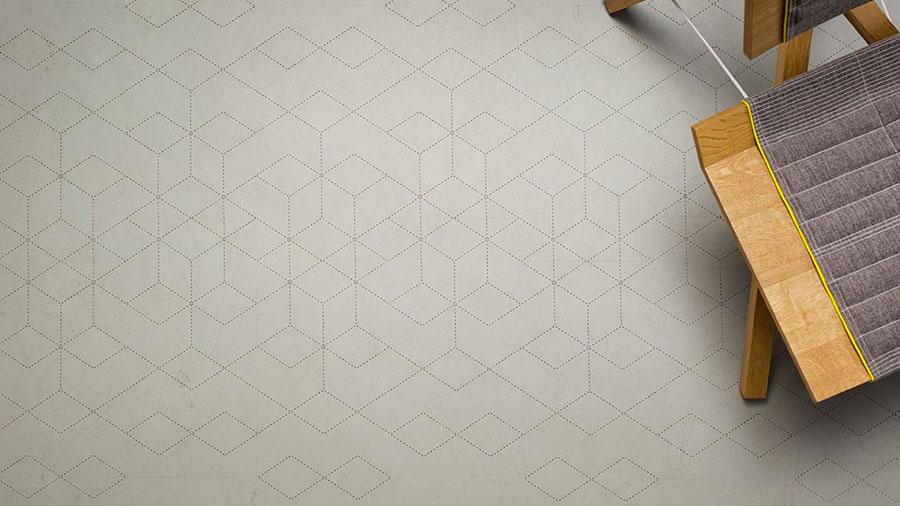 Modello di pavimento in linoleum di design n.10