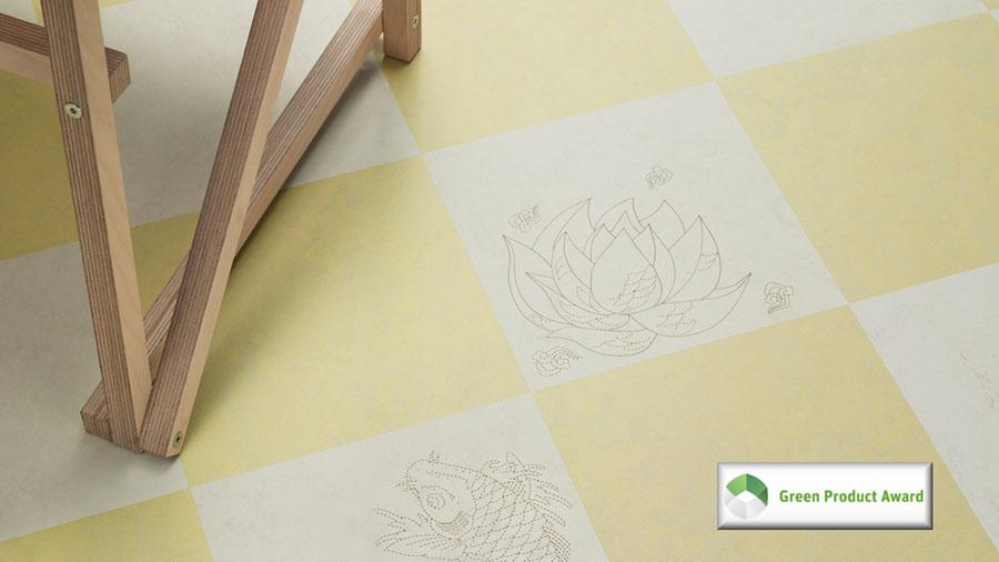 Modello di pavimento in linoleum di design n.11