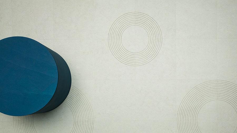 Modello di pavimento in linoleum di design n.12
