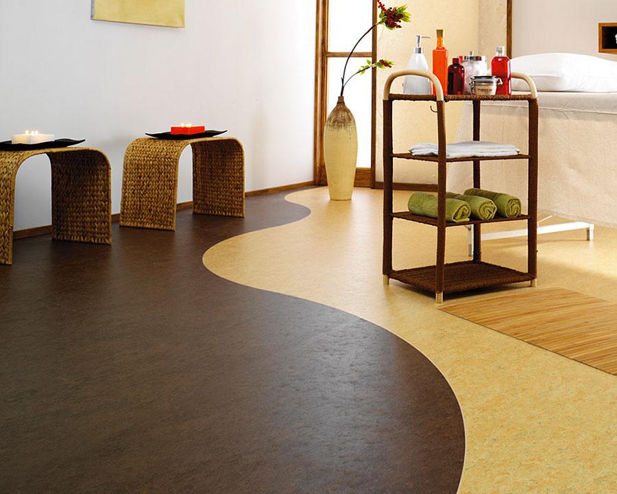 Modello di pavimento in linoleum di design n.19