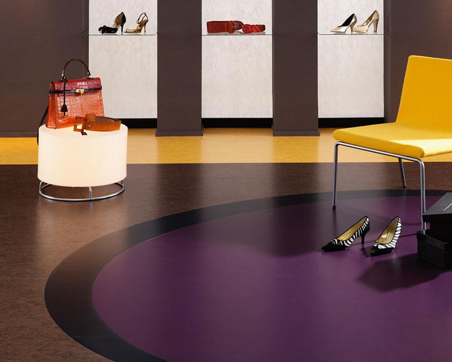 Modello di pavimento in linoleum di design n.20