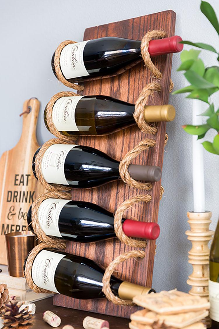 Modello di portabottiglie vino fai da te da costruire n.01