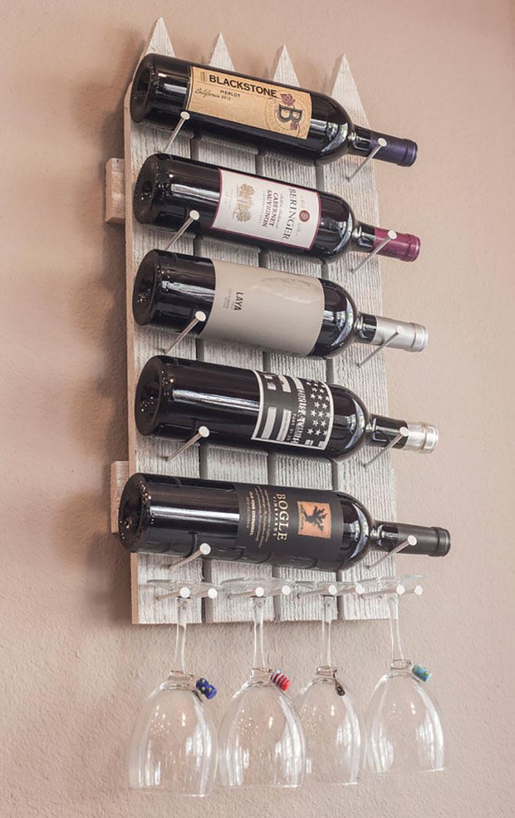 Modello di portabottiglie vino fai da te da costruire n.02