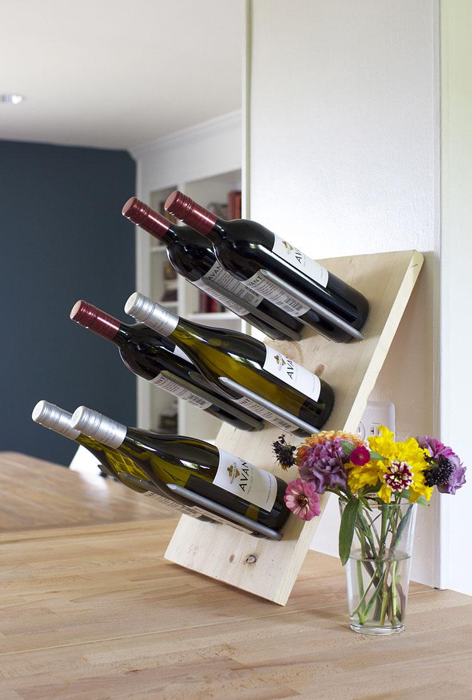Modello di portabottiglie vino fai da te da costruire n.03