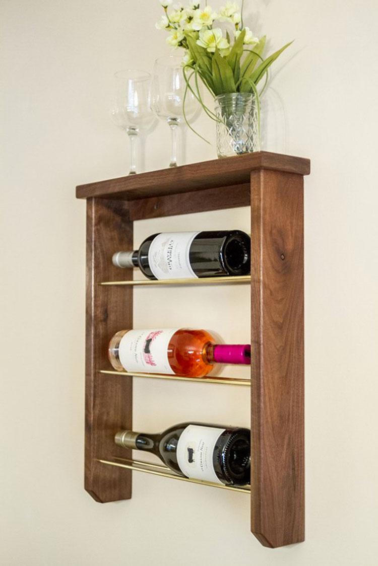 Modello di portabottiglie vino fai da te da costruire n.04