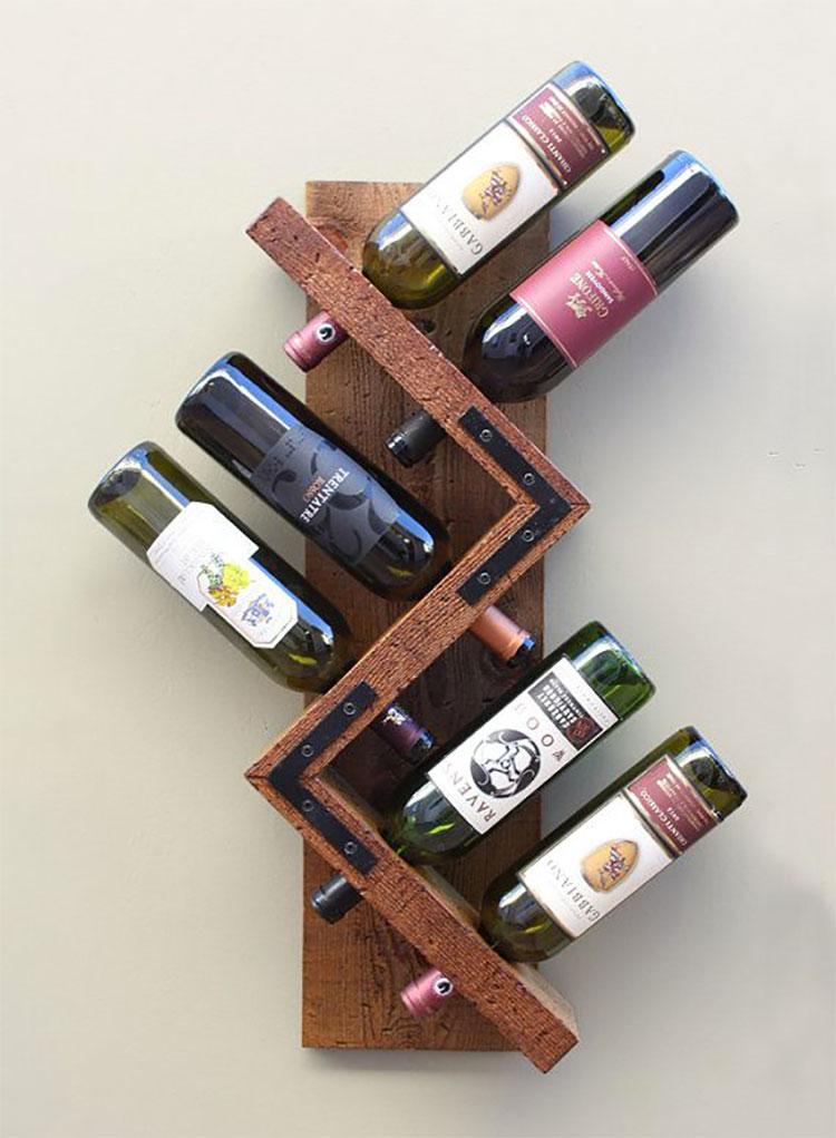 Modello di portabottiglie vino fai da te da costruire n.05