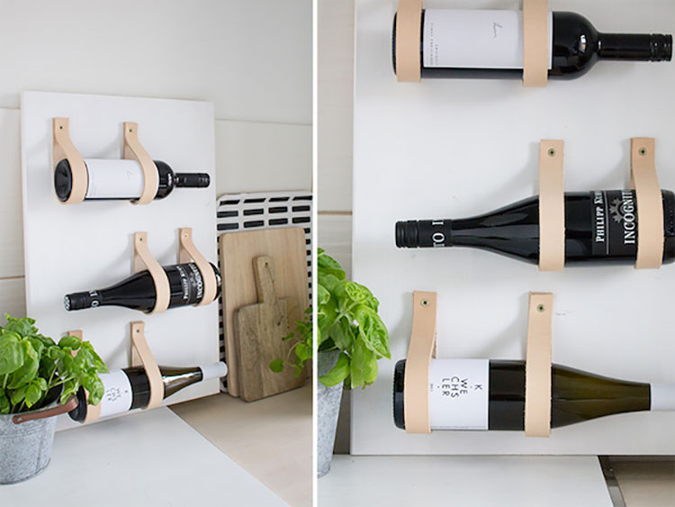 Modello di portabottiglie vino fai da te da costruire n.07