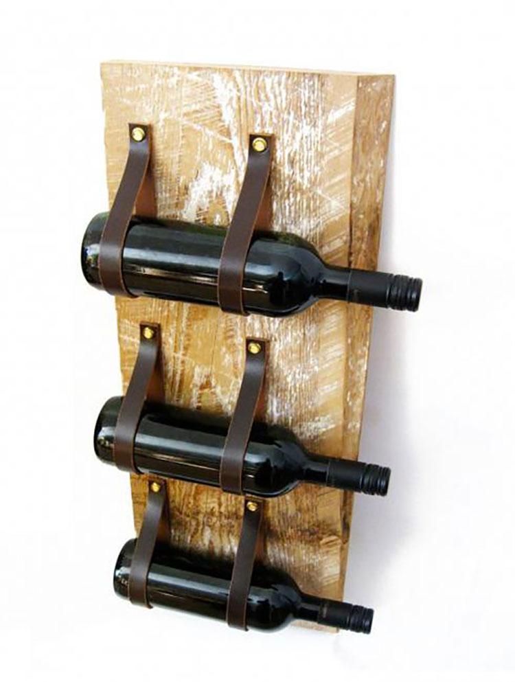 Modello di portabottiglie vino fai da te da costruire n.08