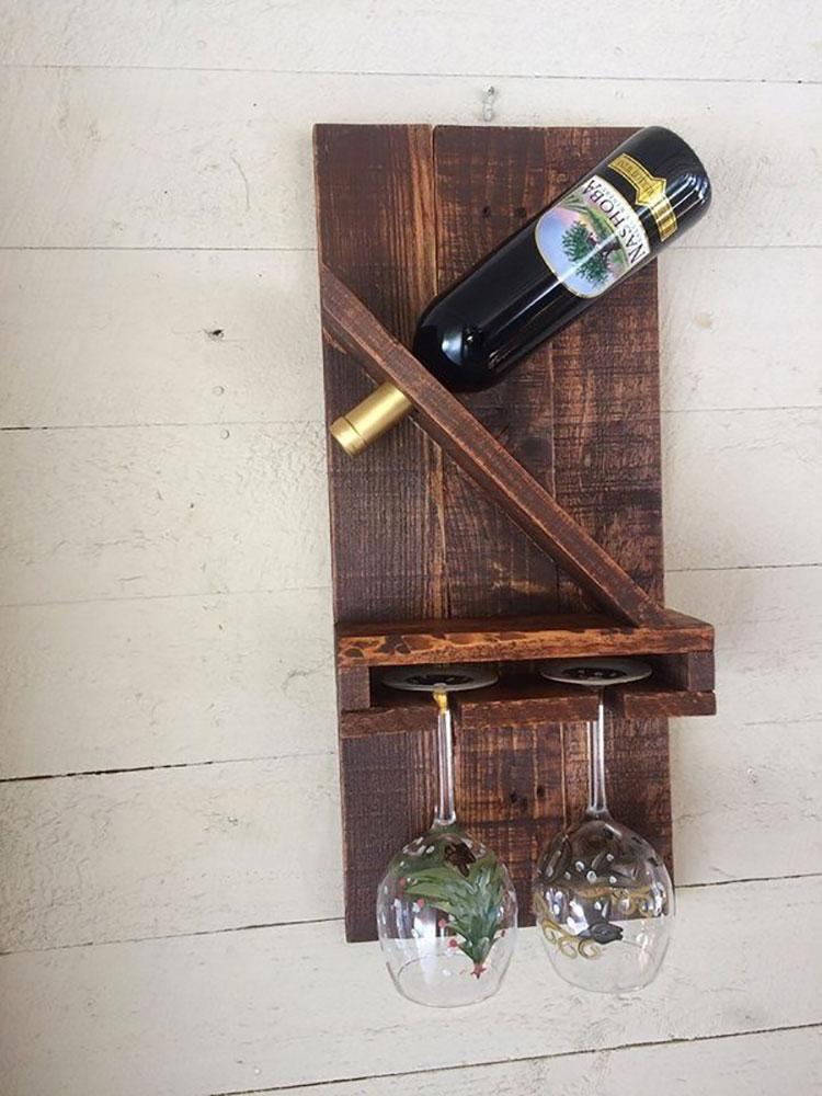 Modello di portabottiglie vino fai da te da costruire n.09