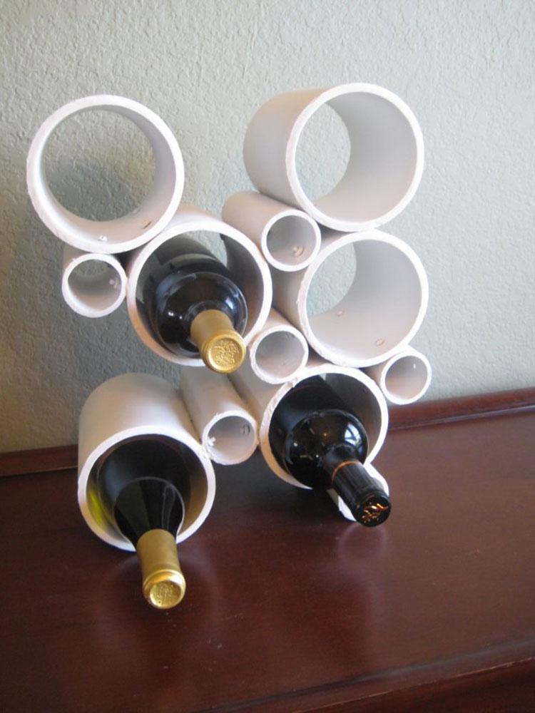 Modello di portabottiglie vino fai da te da costruire n.11