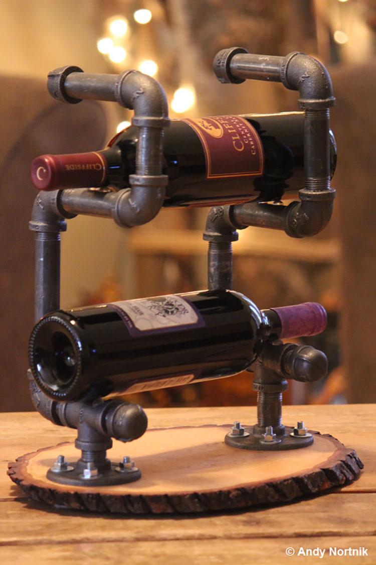 Modello di portabottiglie vino fai da te da costruire n.13