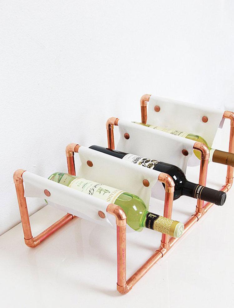 Modello di portabottiglie vino fai da te da costruire n.15