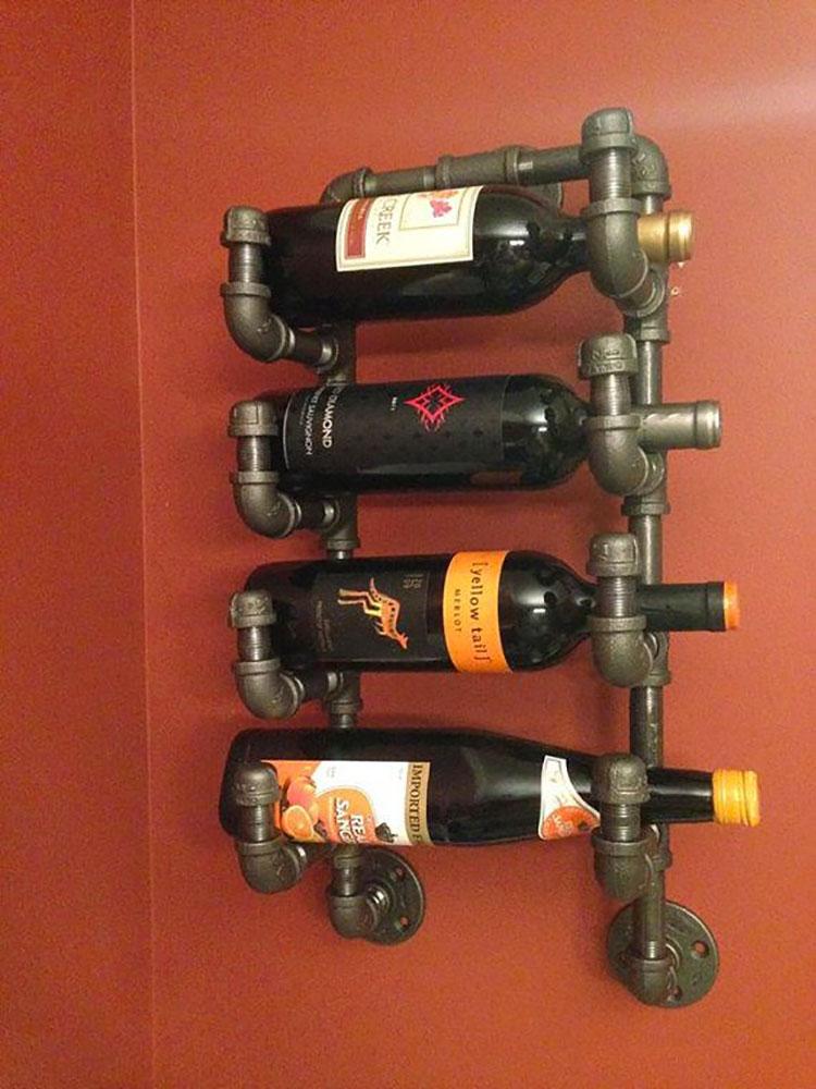 Modello di portabottiglie vino fai da te da costruire n.17