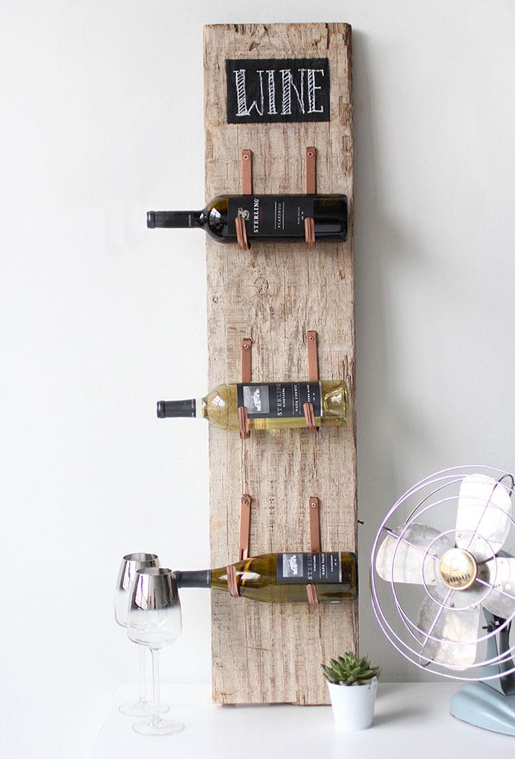 Portabottiglie vino fai da te 25 modelli semplici da - Porta vino ikea ...