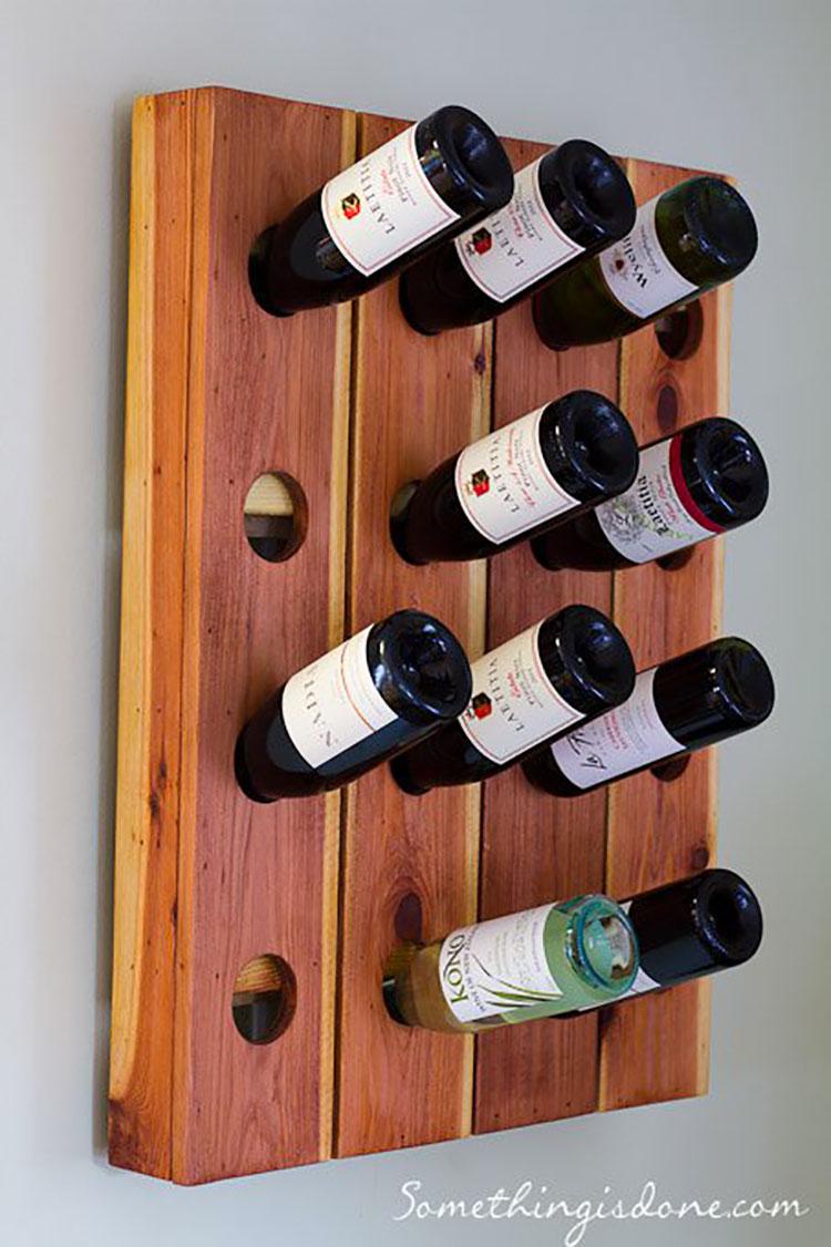 Modello di portabottiglie vino fai da te da costruire n.19