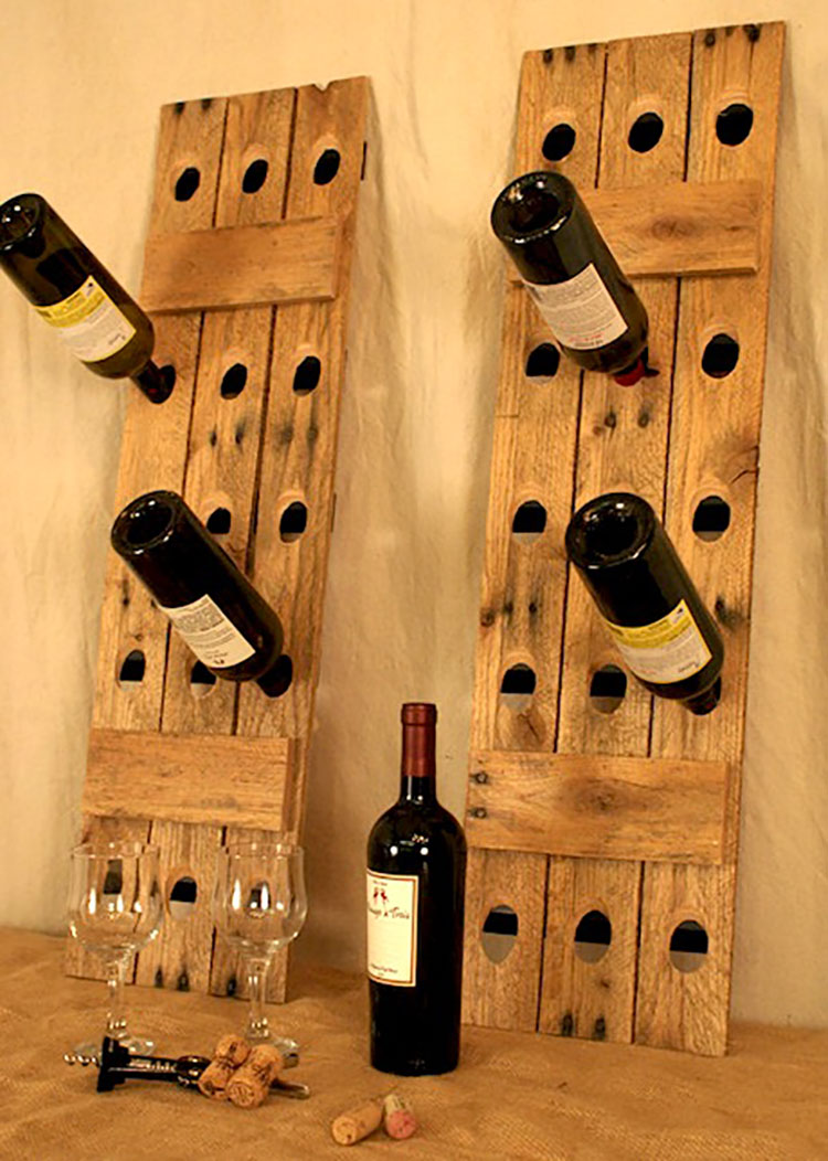 Modello di portabottiglie vino fai da te da costruire n.20