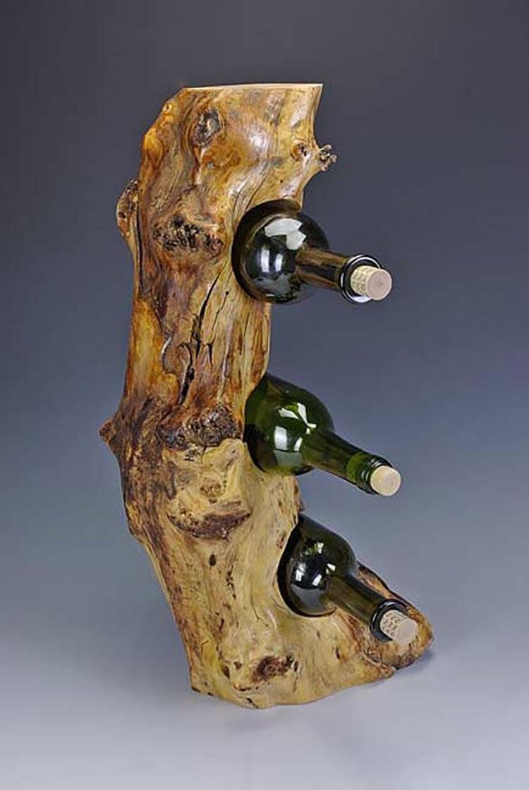 Modello di portabottiglie vino fai da te da costruire n.25