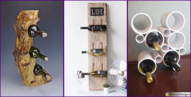 Portabottiglie Vino Fai Da Te: 25 Modelli Semplici da Costruire