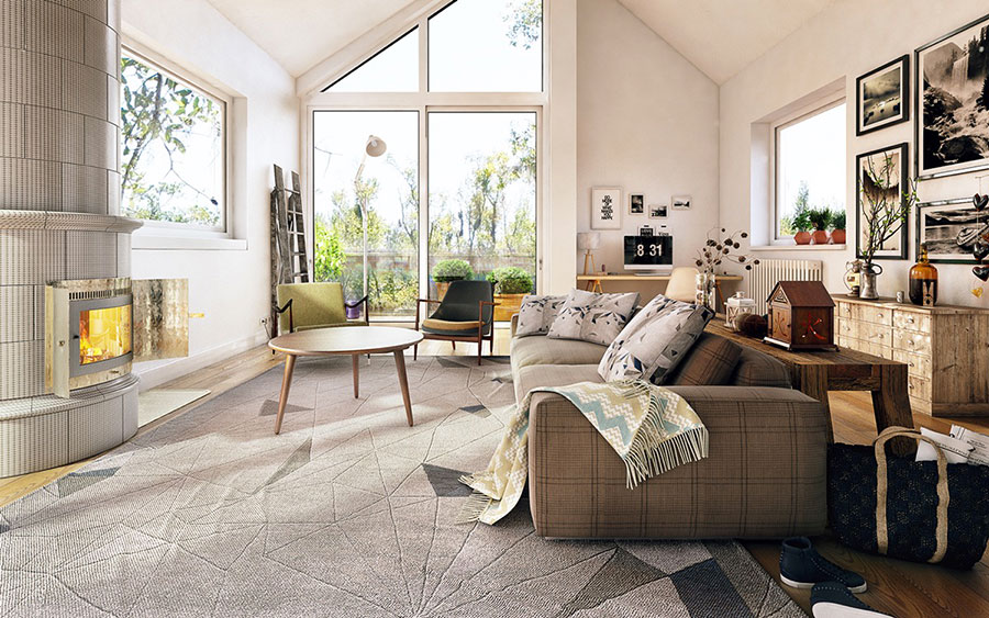 Arredamento per soggiorno dal design nordico n.01