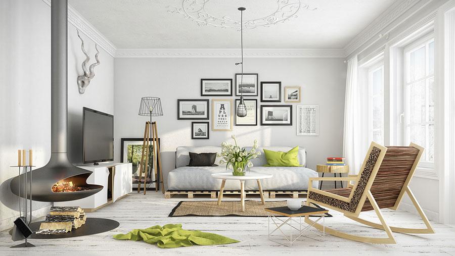 Arredamento per soggiorno dal design nordico n.03