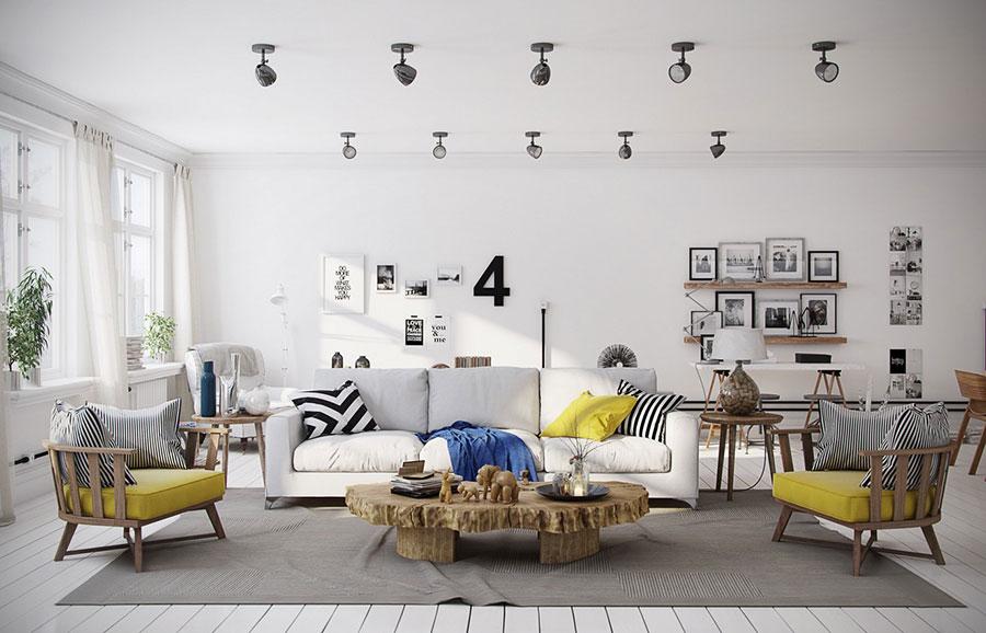 Arredamento per soggiorno dal design nordico n.04