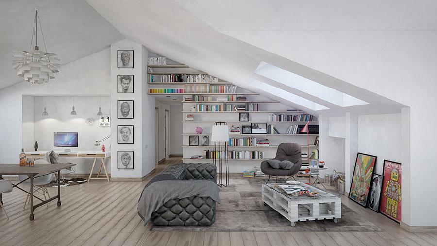 Arredamento per soggiorno dal design nordico n.05