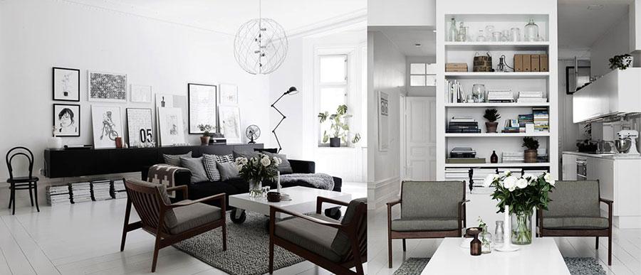 Arredamento per soggiorno dal design nordico n.06
