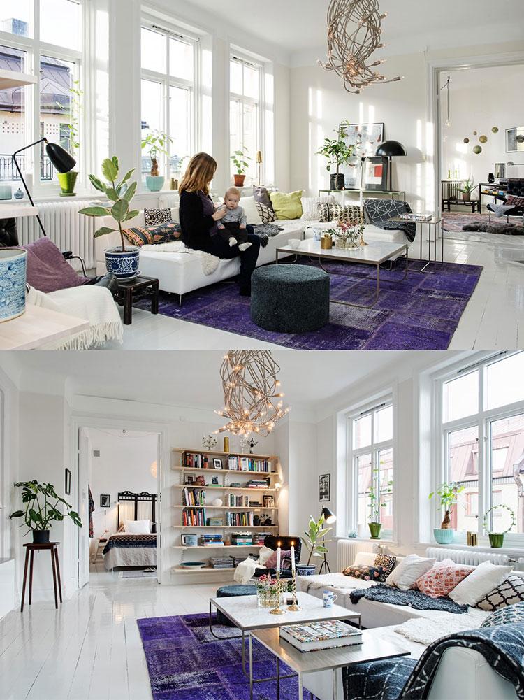Arredamento per soggiorno dal design nordico n.07