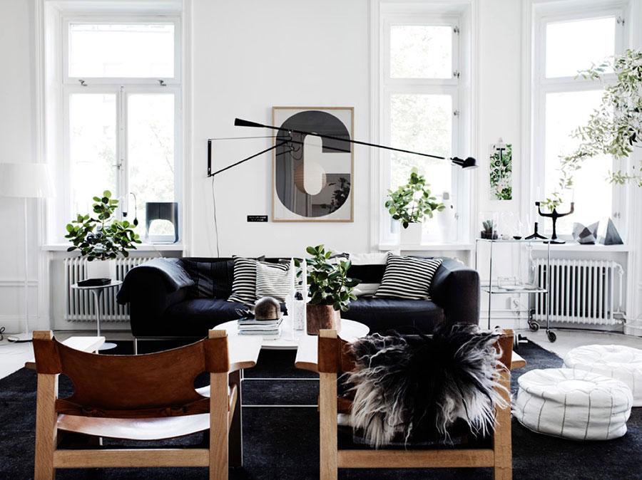 Arredamento per soggiorno dal design nordico n.08