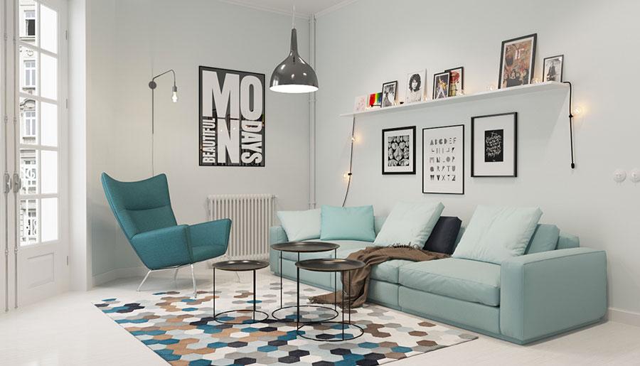 Come arredare il soggiorno in stile scandinavo 30 idee di for Design nordico on line