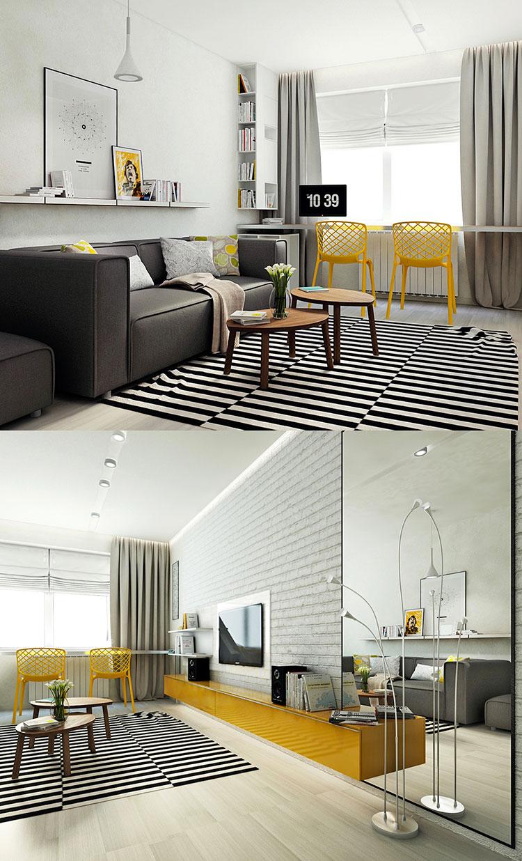 Arredamento per soggiorno dal design nordico n.10