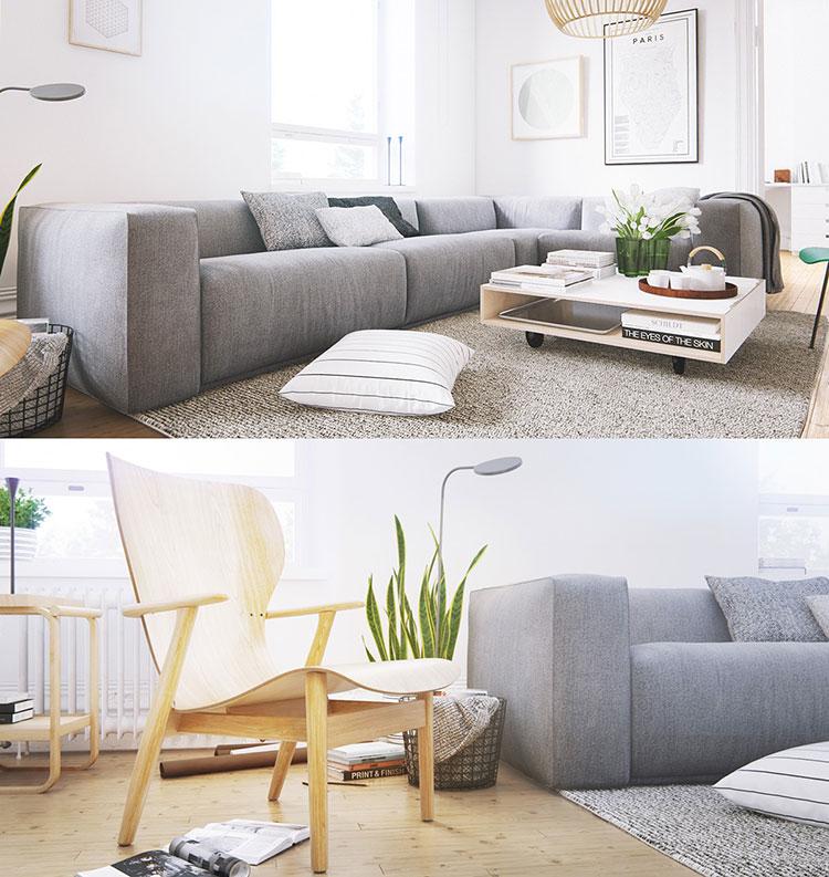 Arredamento per soggiorno dal design nordico n.12