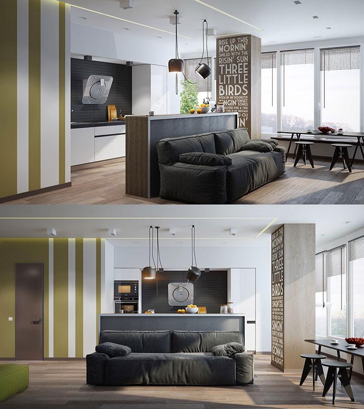 Arredamento per soggiorno dal design nordico n.13