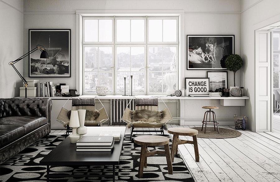 Arredamento per soggiorno dal design nordico n.14