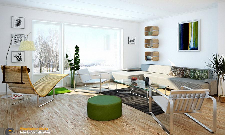 Arredamento per soggiorno dal design nordico n.15