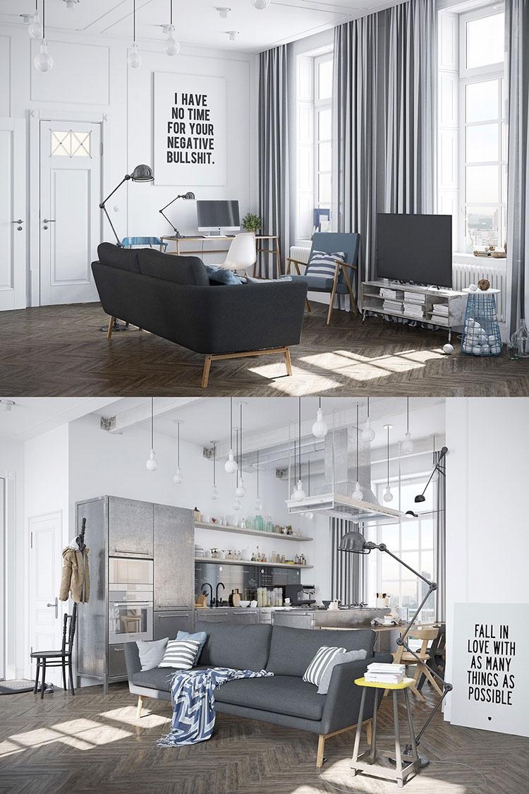 Arredamento per soggiorno dal design nordico n.17