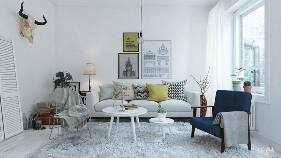 Arredamento per soggiorno dal design nordico n.19