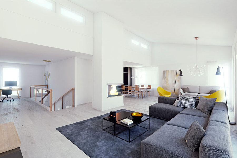 Arredamento per soggiorno dal design nordico n.21