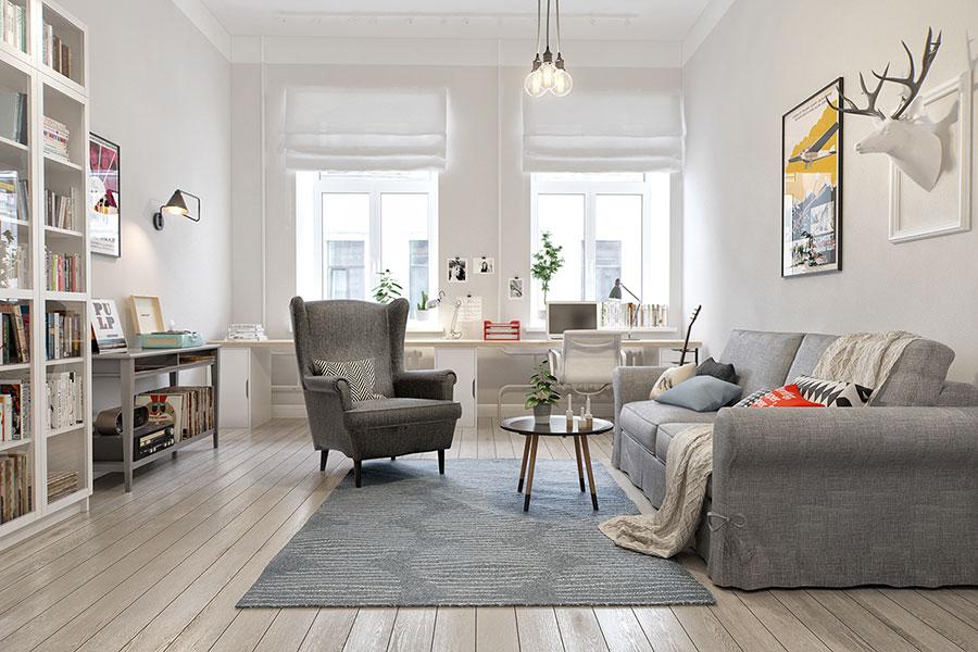 Arredamento per soggiorno dal design nordico n.22