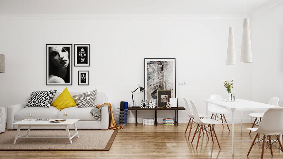 Arredamento per soggiorno dal design nordico n.23