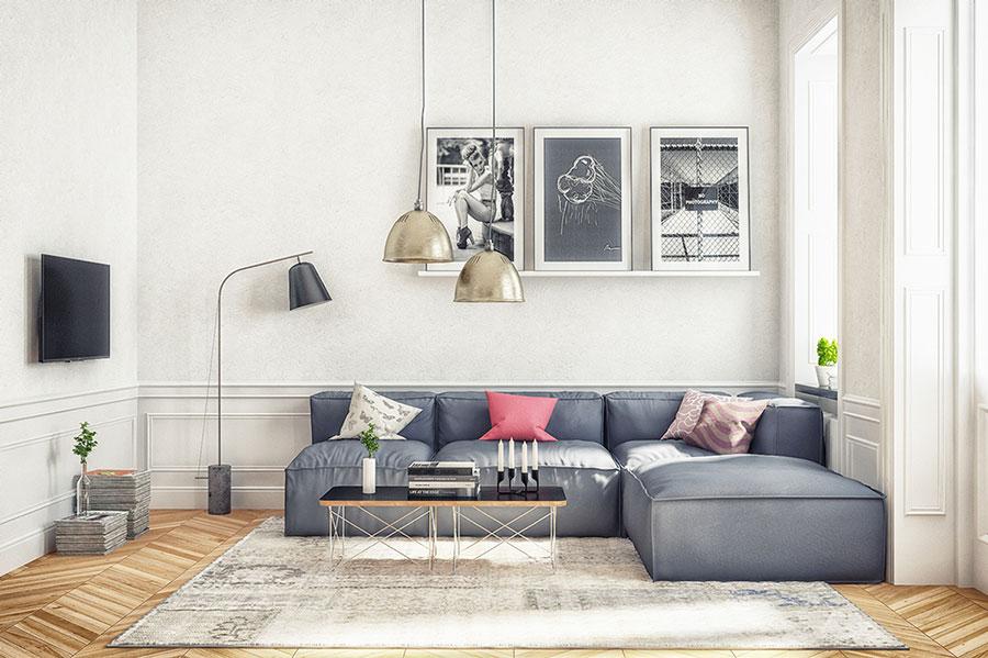 Arredamento per soggiorno dal design nordico n.24