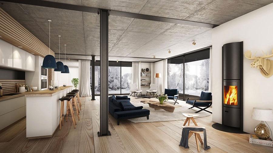 Arredamento per soggiorno dal design nordico n.25