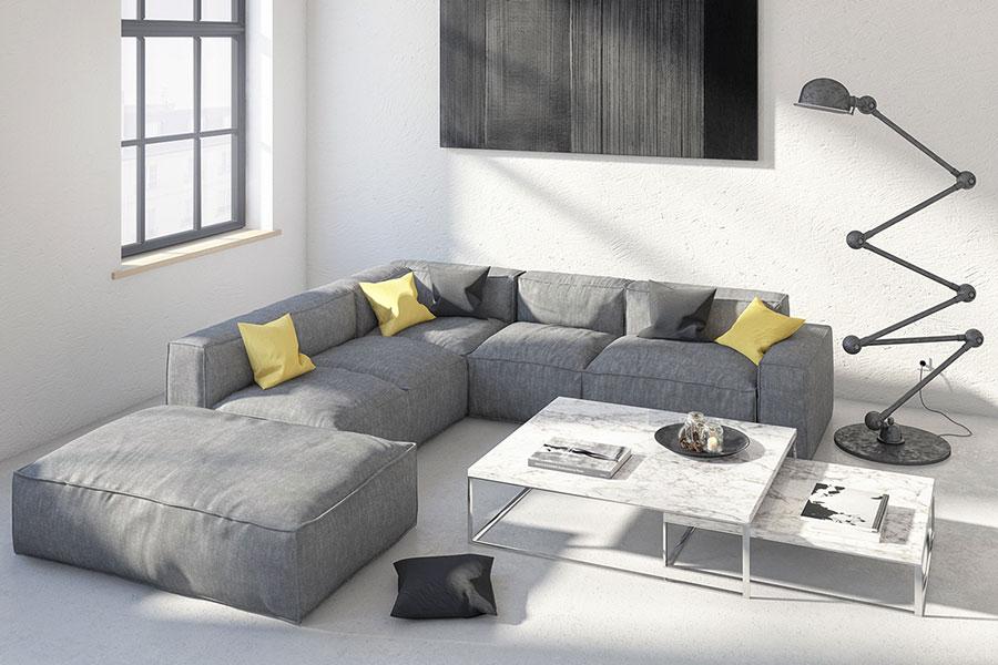 Arredamento per soggiorno dal design nordico n.26