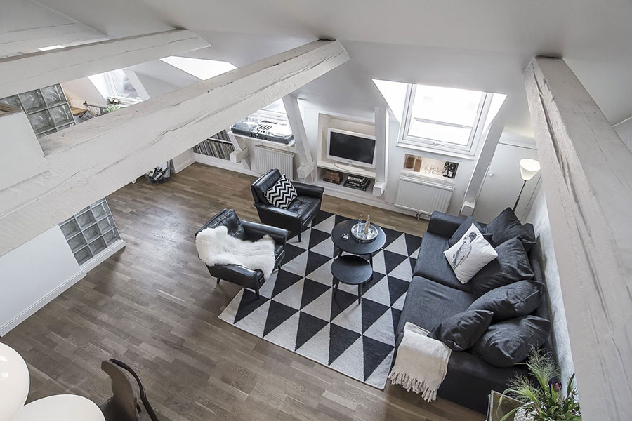 Arredamento per soggiorno dal design nordico n.27
