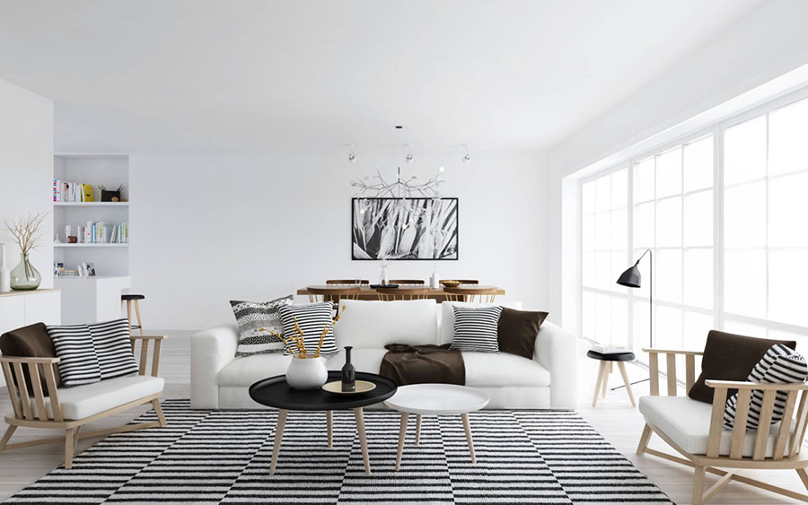 Arredamento per soggiorno dal design nordico n.28